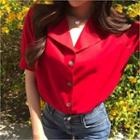 Open-placket Colored Shirt