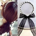 Beaded Lace Hair Tie