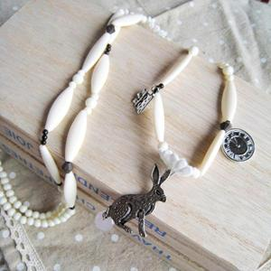 Silver Alice In The Wonder Land Necklace