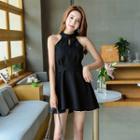 Sleeveless Cutout Halter Dress