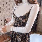 Sleeveless Floral Chiffon Maxi Empire Dress