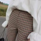 Checked Cotton Pants