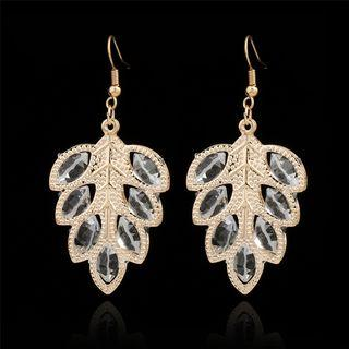 Leaf Dangle Earring 1 Pair - Gold - One Size