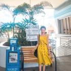 Buttoned Linen Blend A-line Skirt