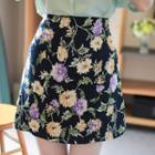 A-line Floral Miniskirt