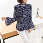 Bell-sleeve Dotted Top