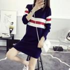 Stripe Long-sleeve Knit Jacket