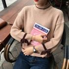 Bow Bell-sleeve Knit Top