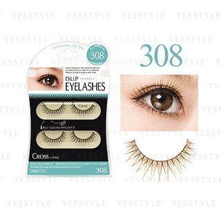 D-up - Eyelash (#308 Brown Color Volume) 2 Pairs