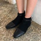 Flat-heel Belted Ankle Boots