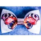 Butterfly Print Bow Tie