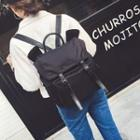 Buckled Nylon Backpack