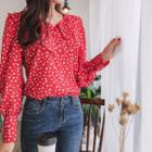 Ruffled Floral Print Blouse