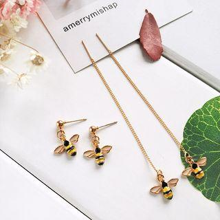 Bee Drop Earrings / Threader Earring