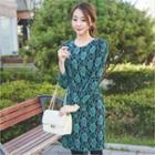 Floral Patterned Sheath Dress