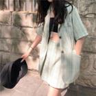 Plain Blazer / Mini Skort / Mini Skirt