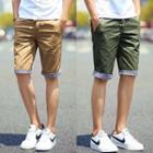 Plaid-trim Bermuda Shorts