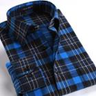 Long-sleeve / Short-sleeve Plaid Shirt