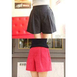 A-line Pleated Shorts