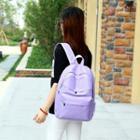 Nylon Plain Backpack