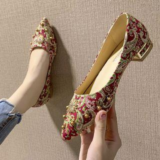 Pointed Paisley Pattern Pumps