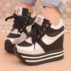 Hidden-heel Platform Sneakers