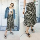 Band-waist Floral Skirt