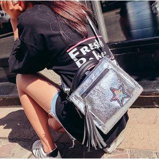 Tassel Faux-leather Backpack Bag