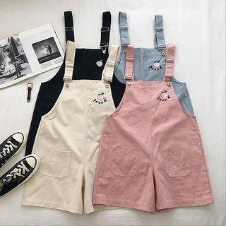 Embroidered Strap Shorts