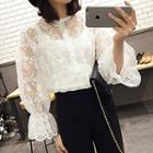 Lantern Sleeve Lace Blouse