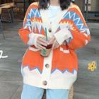 Patterned Cardigan / Maxi Skirt