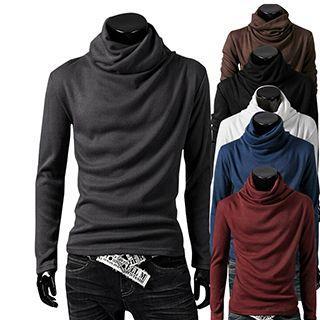 Cowl Neck Long-sleeve T-shirt