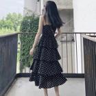 Spaghetti Strap Midi Layered Dotted Dress