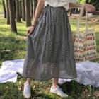 Plaid Tiered Maxi Skirt