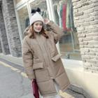 Hooded Flap-pocket Puffer Coat