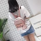 Studded Straw Backpack