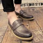 Stitched Strap Loafers