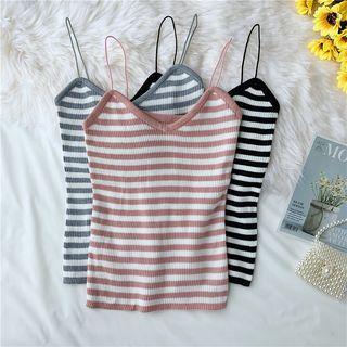 Color-block Stripe Knit Camisole
