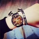 Marble Print Strap Watch