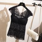 Padded Lace Tank Top