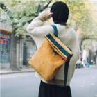 Corduroy Contrast-trim Backpack