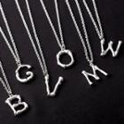 Stainless Steel Alphabet Pendant Necklace