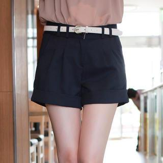 Pleat-front Shorts
