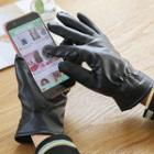 Faux-leather Touchscreen Gloves