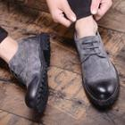 Lace-up Genuine Leather Wingtip Shoes