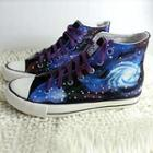 Painted Galaxy Canvas Sneakers