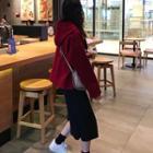 Plain Hoodie / Plain Midi Skirt