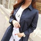 Dual-pocket Long Jacket