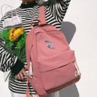 Floral Applique Nylon Backpack
