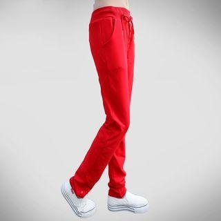Buttoned Drawstring Sweatpants